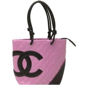 Chanel  Cambon Quilted Cc Ligne Tote